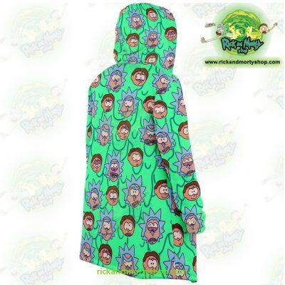 Rick And Morty Facial Expression Dream Cloak Coat Microfleece - Aop