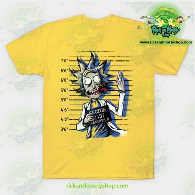 Rick And Morty Free T-Shirt Yellow / S T-Shirt