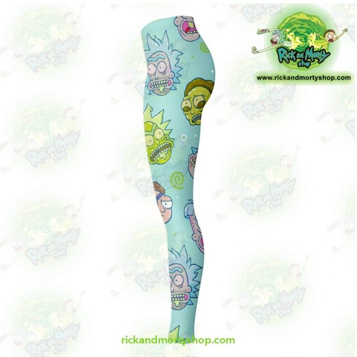 Rick And Morty Funny Face 3D Legging Leggings - Aop