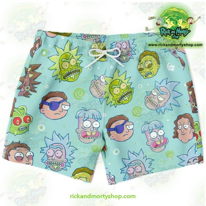 Rick And Morty Funny Face Swim Trunk Xs Trunks Men - Aop