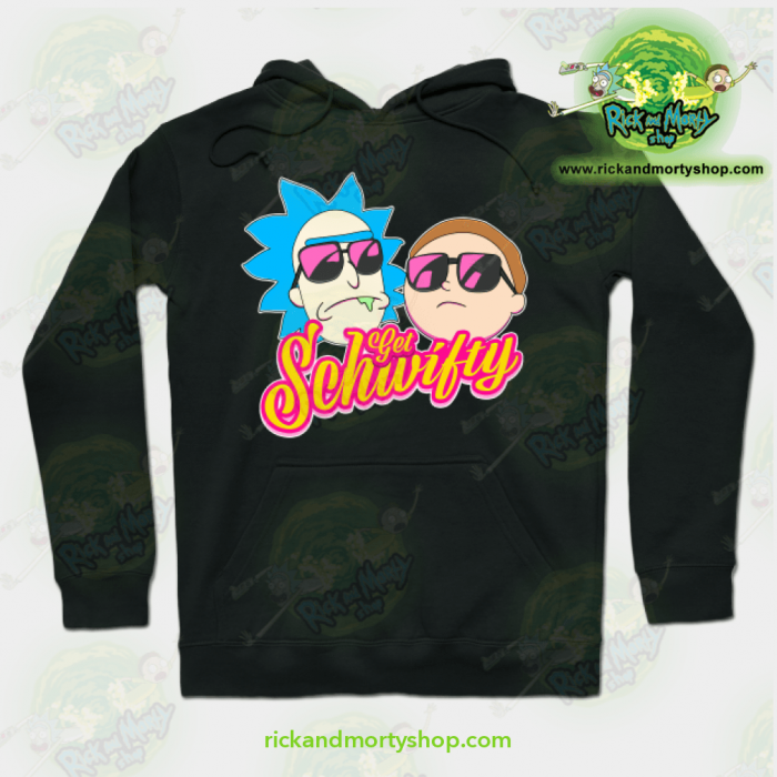 Rick And Morty Get Schwifty Hoodie Black / S Athletic - Aop