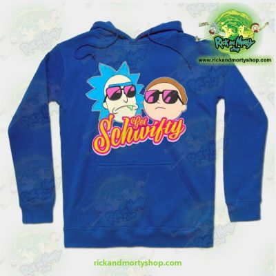 Rick And Morty Get Schwifty Hoodie Blue / S Athletic - Aop