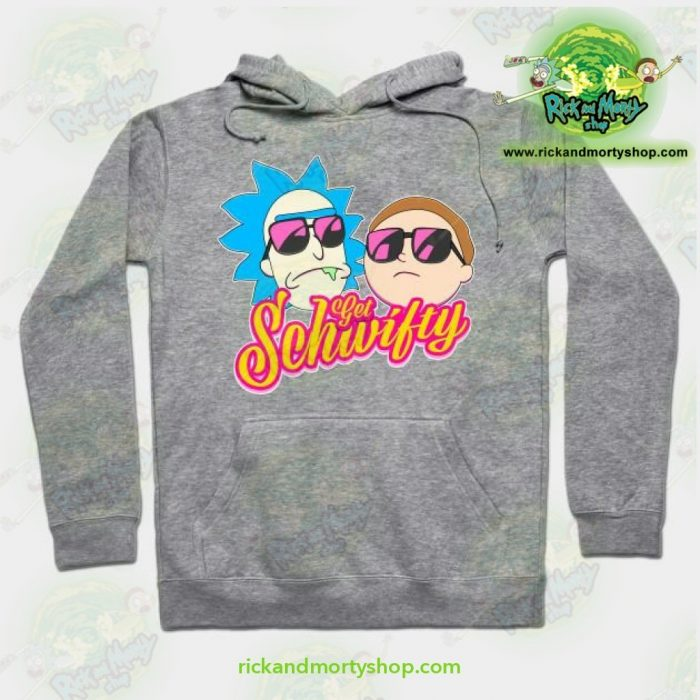 Rick And Morty Get Schwifty Hoodie Grey / S Athletic - Aop