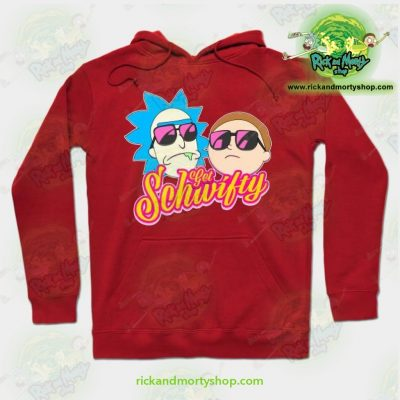 Rick And Morty Get Schwifty Hoodie Red / S Athletic - Aop
