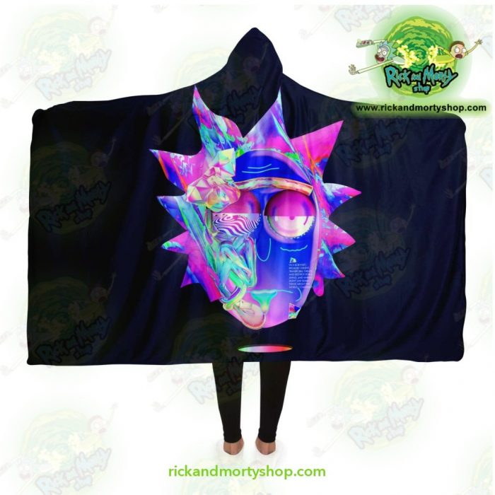Rick And Morty Hooded Blanket - 3D Face Sanchez Diamond Adult / Premium Sherpa Aop