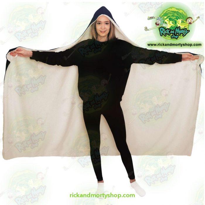 Rick And Morty Hooded Blanket - 3D Face Sanchez Diamond Aop