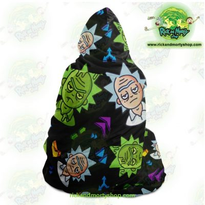 Rick And Morty Hooded Blanket - Cute Face Sanchez Aop