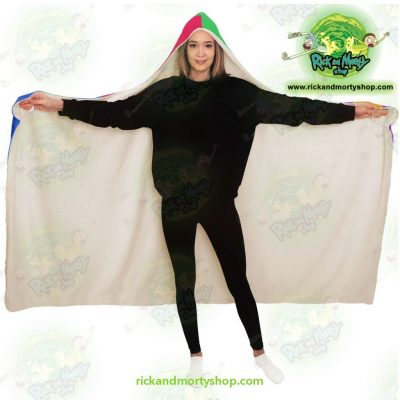 Rick And Morty Hooded Blanket Fashion 5 Color - Aop