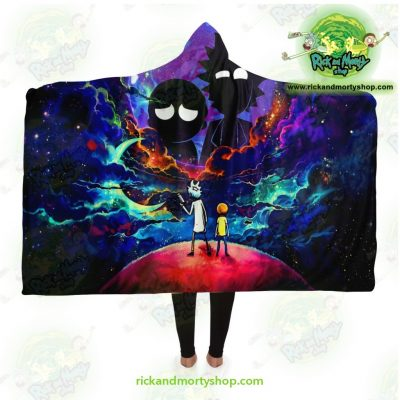 Rick And Morty Hooded Blanket - Galaxy Adult / Premium Sherpa Aop
