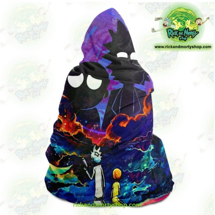 Rick And Morty Hooded Blanket - Galaxy Aop