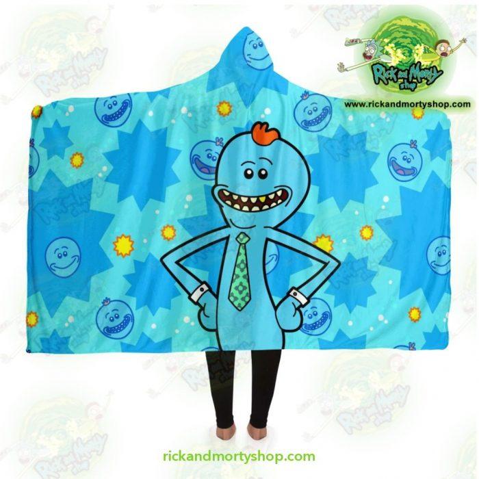Rick And Morty Hooded Blanket - Meeseeks Cute Adult / Premium Sherpa Aop
