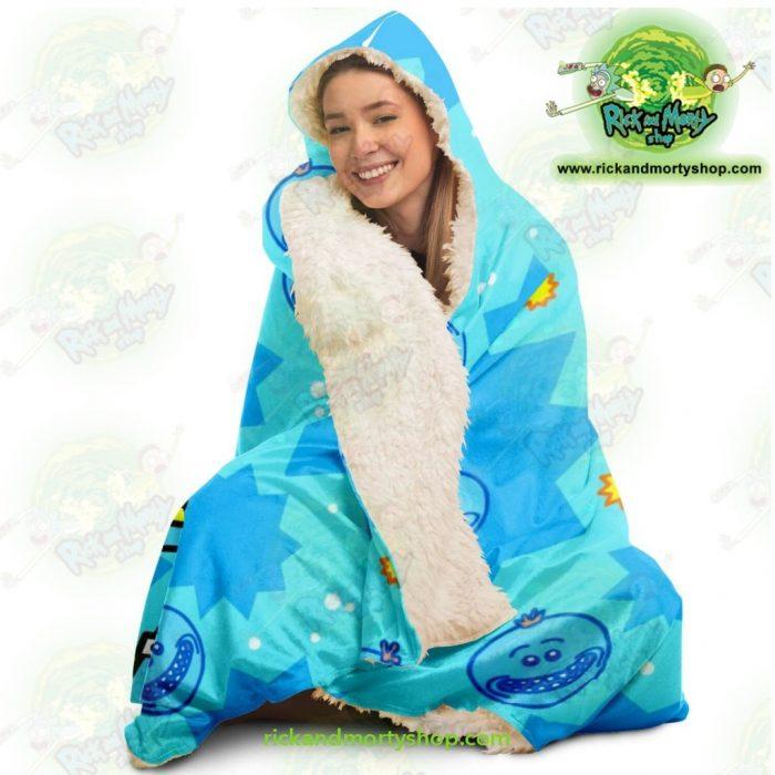 Rick And Morty Hooded Blanket - Meeseeks Cute Aop