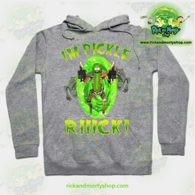 Rick And Morty Hoodie - Im Pickle Rick! Grey / S Athletic Aop