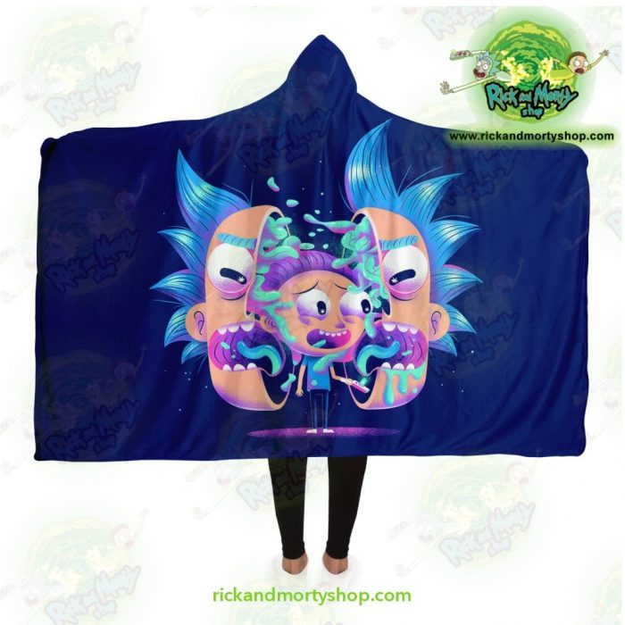 Rick And Morty Horror Hooded Blanket Adult / Premium Sherpa - Aop