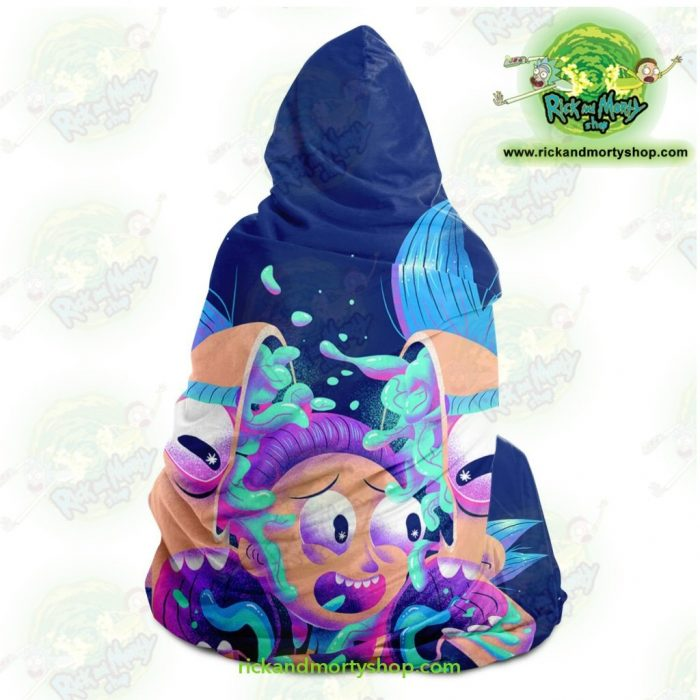 Rick And Morty Horror Hooded Blanket - Aop