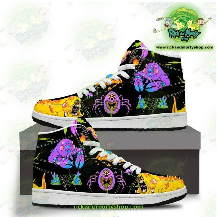 Rick And Morty Jordan Sneakers - Alien Monters Men / Us6.5 Jd