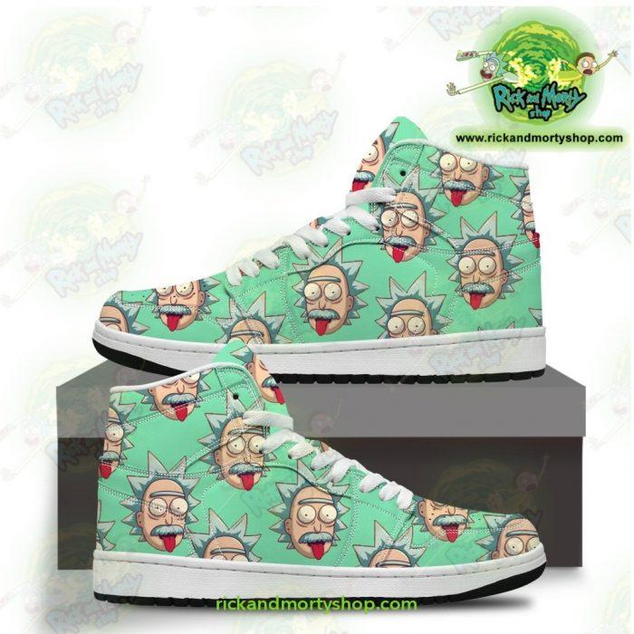 Rick And Morty Jordan Sneakers - Funny Face Sanchez Men / Us6.5 Jd