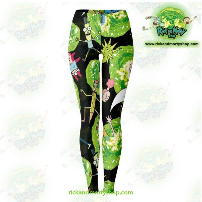 Rick And Morty Legging Colorfull 3D Fashion Xs Leggings - Aop