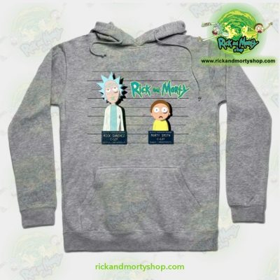 Rick And Morty Mugshot Hoodie Grey / S Athletic - Aop