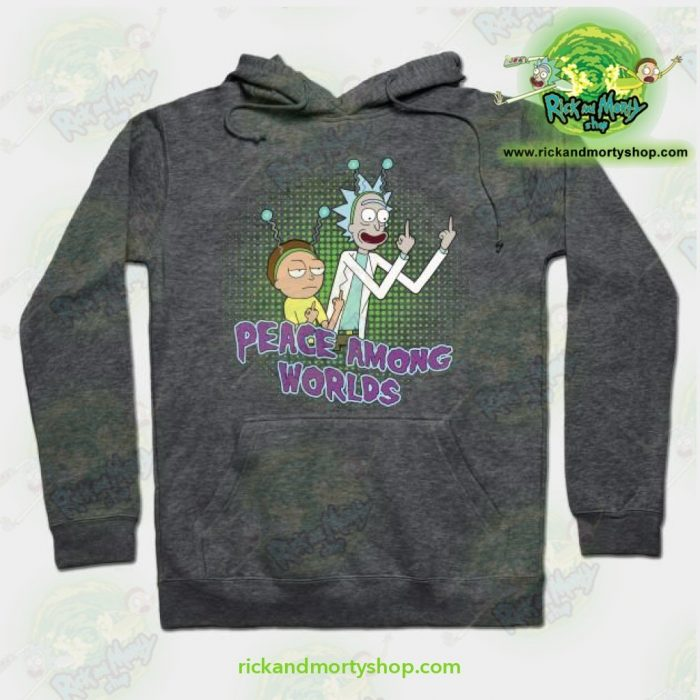 Rick And Morty Peace Among Worlds Hoodie Grey / S Athletic - Aop