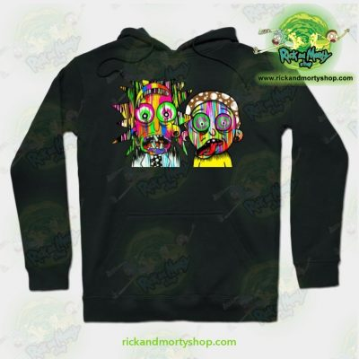 Rick And Morty Psychadelic Hoodie Black / S Athletic - Aop