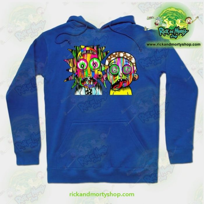 Rick And Morty Psychadelic Hoodie Blue / S Athletic - Aop