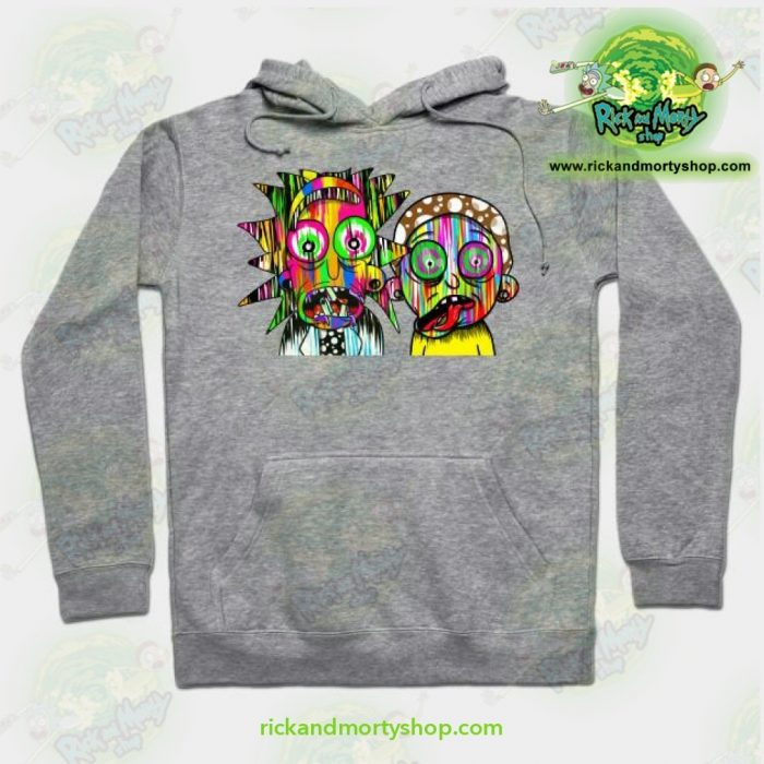 Rick And Morty Psychadelic Hoodie Grey / S Athletic - Aop