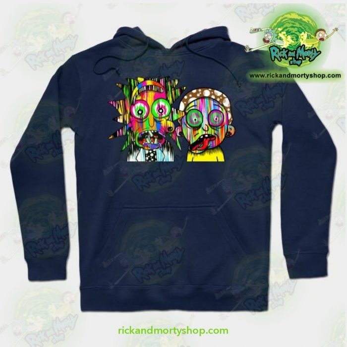 Rick And Morty Psychadelic Hoodie Navy Blue / S Athletic - Aop