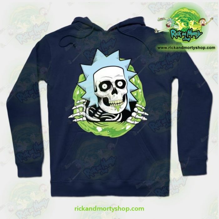 Rick And Morty Ripper Hoodie Navy Blue / S Athletic - Aop