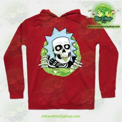 Rick And Morty Ripper Hoodie Red / S Athletic - Aop