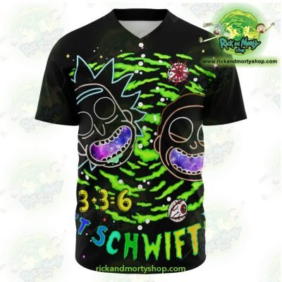 Rick And Morty Schwifty Baseball Jersey Xs - Aop