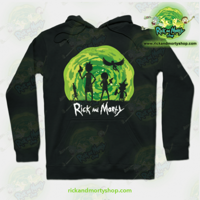 Rick And Morty Schwifty Patrol Hoodie Black / S Athletic - Aop