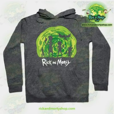 Rick And Morty Schwifty Patrol Hoodie Grey / S Athletic - Aop