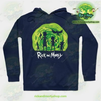 Rick And Morty Schwifty Patrol Hoodie Navy Blue / S Athletic - Aop