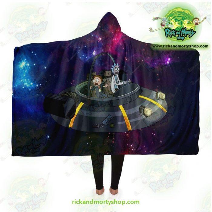 Rick And Morty Spaceship Hooded Blanket Adult / Premium Sherpa - Aop