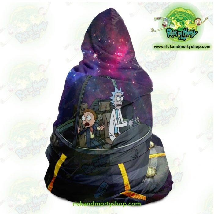 Rick And Morty Spaceship Hooded Blanket - Aop