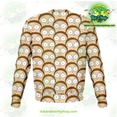 Rick And Morty Sweatshirt - Many Mortys Face Athletic Aop