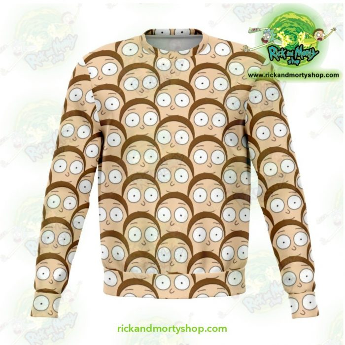 Rick And Morty Sweatshirt - Many Mortys Face Xs Athletic Aop