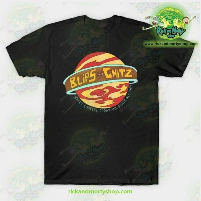 Rick And Morty T-Shirt - Blips Chitz! Black / S T-Shirt