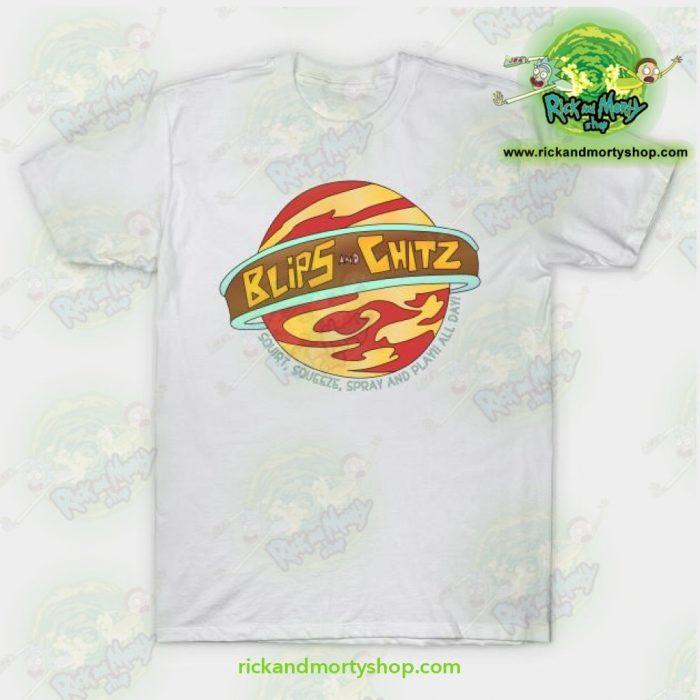Rick And Morty T-Shirt - Blips Chitz! White / S T-Shirt