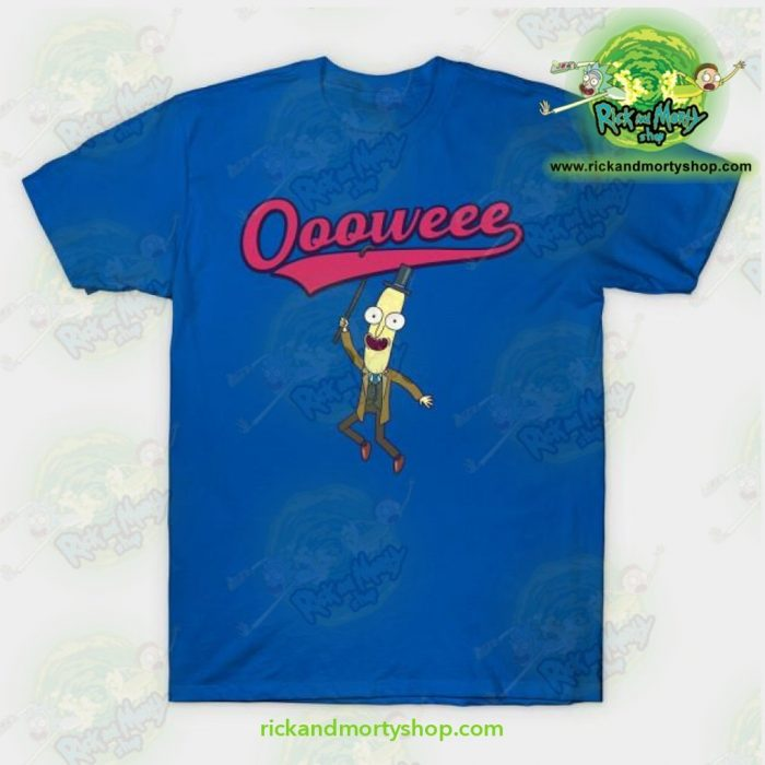 Rick And Morty T-Shirt - Professor Poopybutthole Oooweee Blue / S T-Shirt