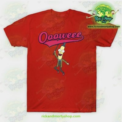 Rick And Morty T-Shirt - Professor Poopybutthole Oooweee Red / S T-Shirt