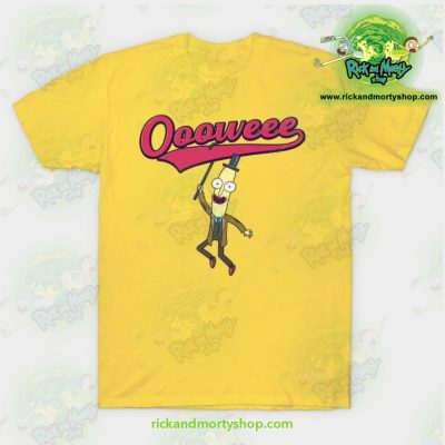 Rick And Morty T-Shirt - Professor Poopybutthole Oooweee Yellow / S T-Shirt