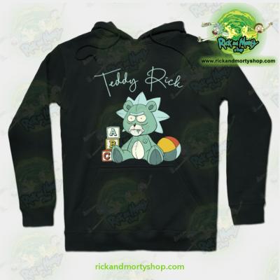 Rick And Morty Teddy Hoodie Black / S Athletic - Aop