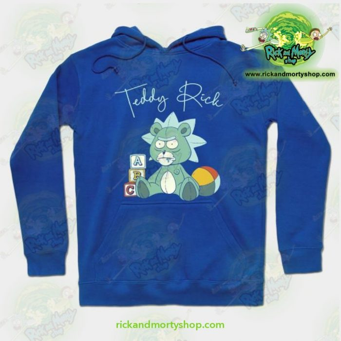 Rick And Morty Teddy Hoodie Blue / S Athletic - Aop