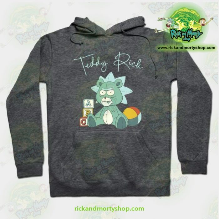 Rick And Morty Teddy Hoodie Grey / S Athletic - Aop