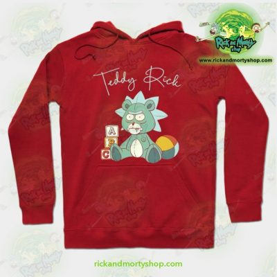 Rick And Morty Teddy Hoodie Red / S Athletic - Aop