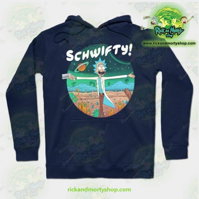 Rick And Morty The Sound Of Science Hoodie Navy Blue / S Athletic - Aop