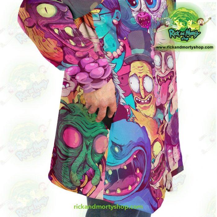 Rick And Morty Water Color Dream Cloak Coat Microfleece - Aop