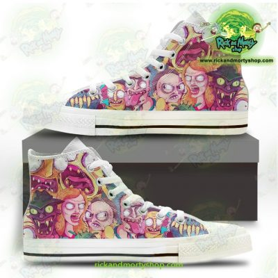 Rick And Morty Watercolor Converse Shoes